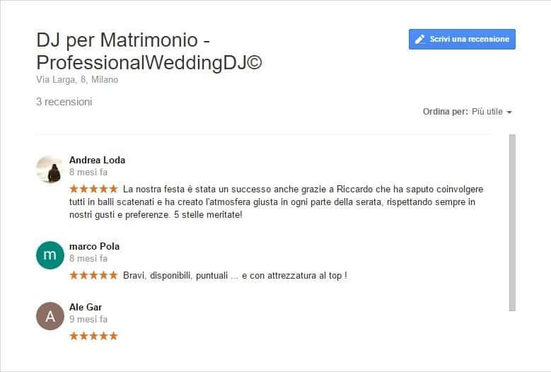 pareri dj matrimonio recensioni